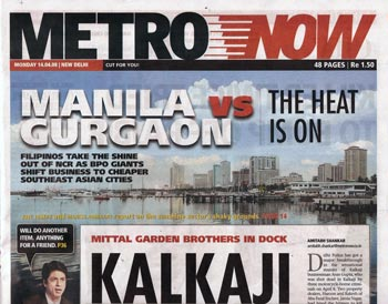 MetroNow headline on 14 April 2008